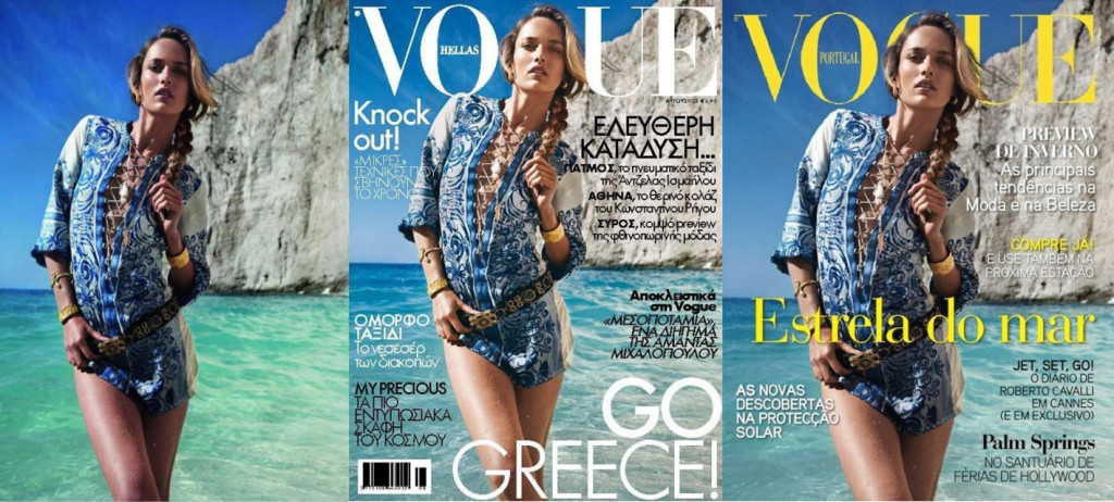 Karmen Pedaru Covers Vogue Portugal and Vogue Hellas. Pic from Paris Vogue