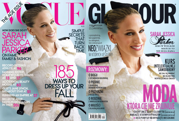 Sarah Jessica Parker Covers American Vogue, the August Issue and Polish Glamour - the September Issue