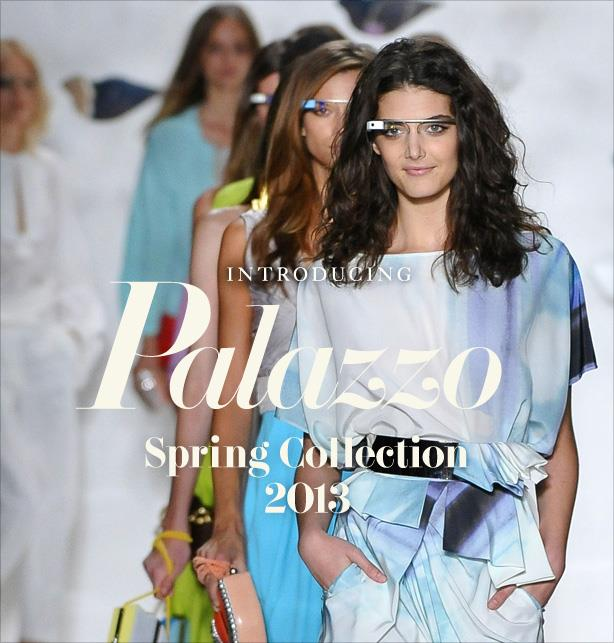 DVF | Spring 2013 Collection - models wearing Google Glass
