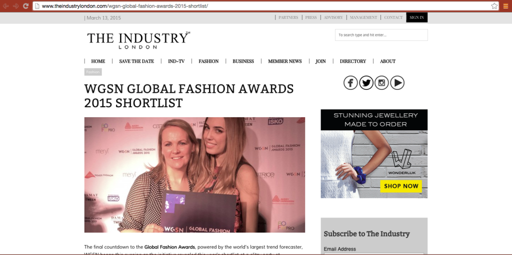 GeekGoesChic.Co nominated to GGC Global Fashion Awards 2015