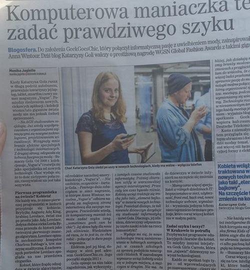 Kasia Gola dziennik polski