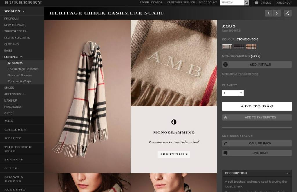 Burberry.com is often considered as a benchmark for digital activation of luxury brand.