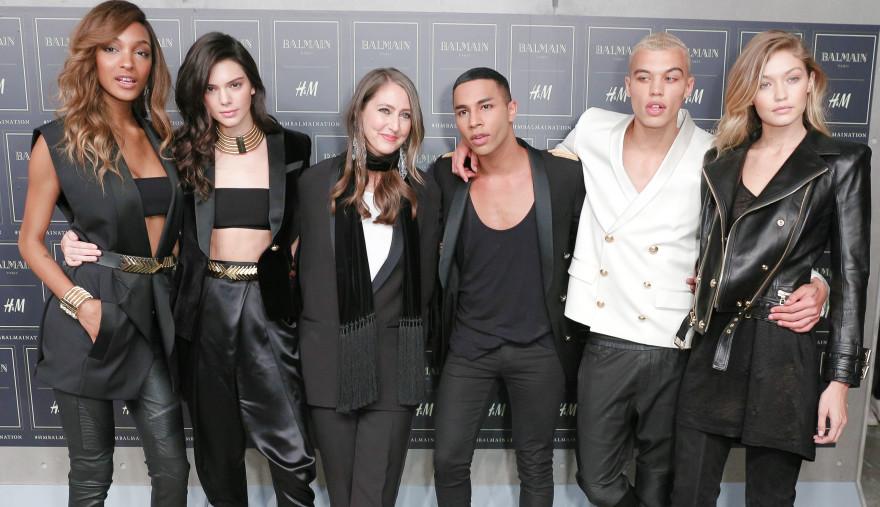 Jourdan Dunn, Kendall Jenner, Ann-Sofie Johansson, Olivier Rousteing, Dudley O'Shaughnessy, Gigi Hadid