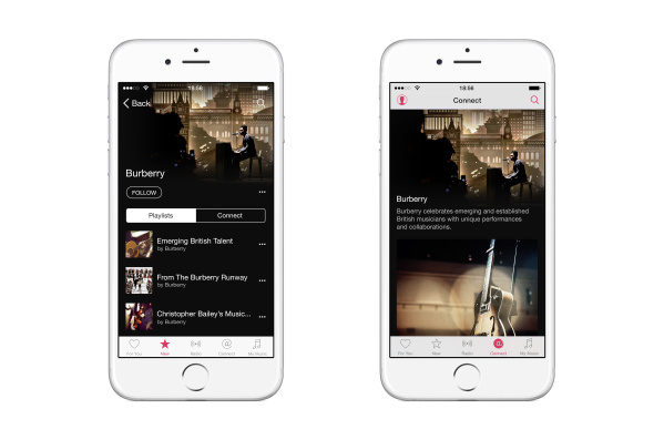 Burberry launches on Apple Music