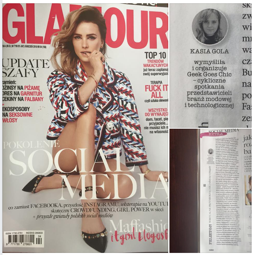 Glamour Poland 2016 - social media edition