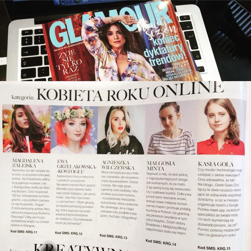 GeekGoesChic - Glamour Poland - Women of the Year nomination
