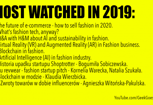 2019 most watched videos on GeekGoesChic YouTube